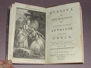 Evelina by Fanny Burney - 1779 Version